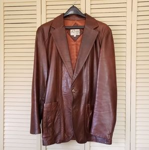 Vintage Remy brand genuine leather jacket.